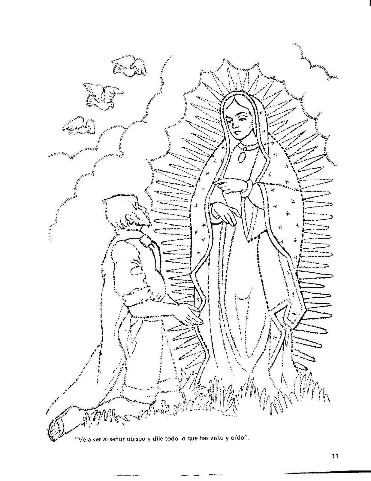 Free Virgen De Guadalupe Coloring Pages Download Free Clip