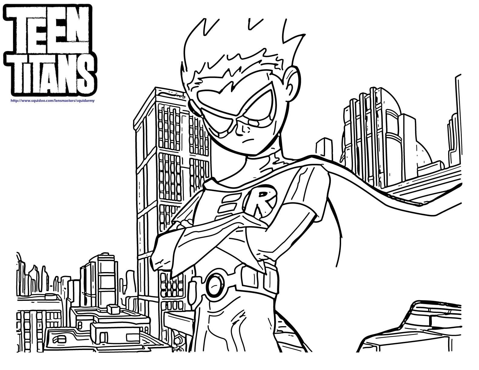Desenhos Para Colorir Dos Jovens Titans Teen Titans Jogos