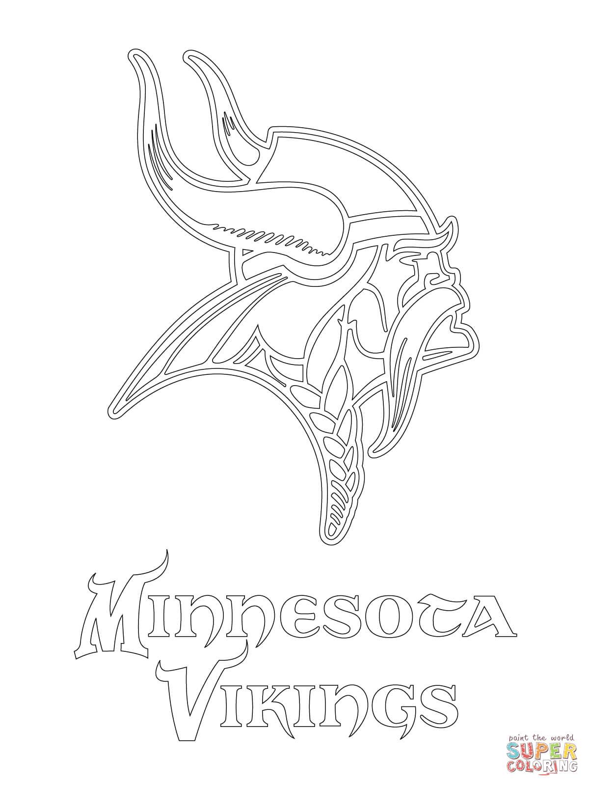 Minnesota Vikings Logo coloring page | Free Printable ...