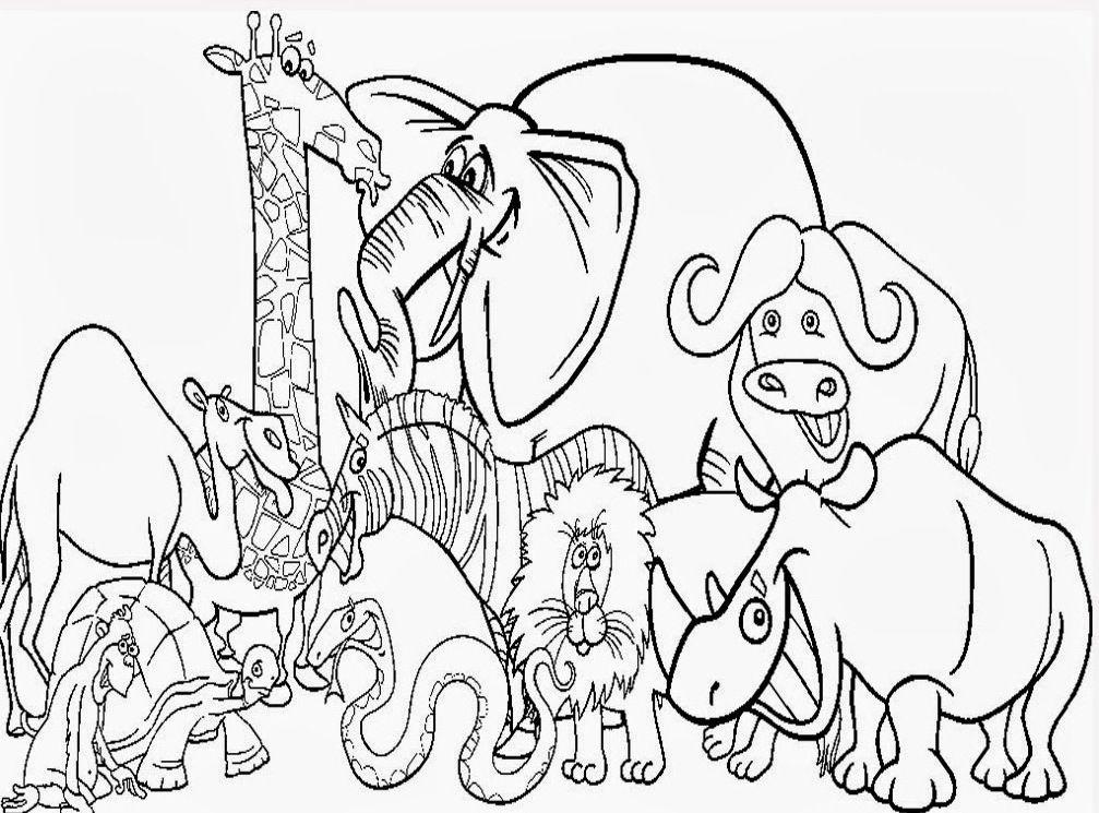 Farm Kids Coloring Animal Clip Art Library