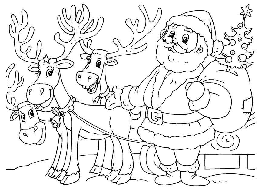 Free Santa And Reindeer Coloring Pages Download Free Clip Art Free Clip Art On Clipart Library