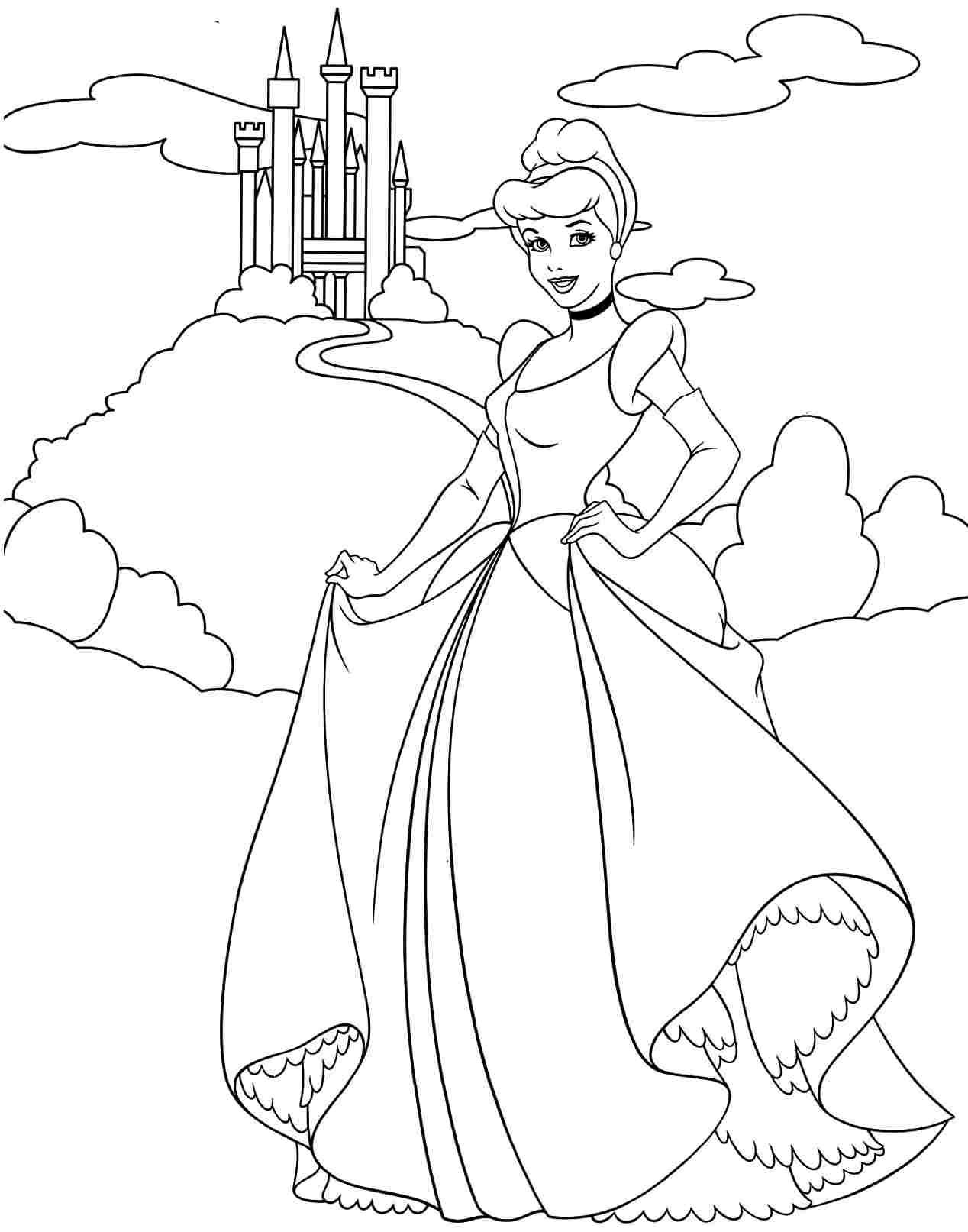 Free Disney Princess Coloring Pages Cinderella Download Free Clip Art Free Clip Art On Clipart Library