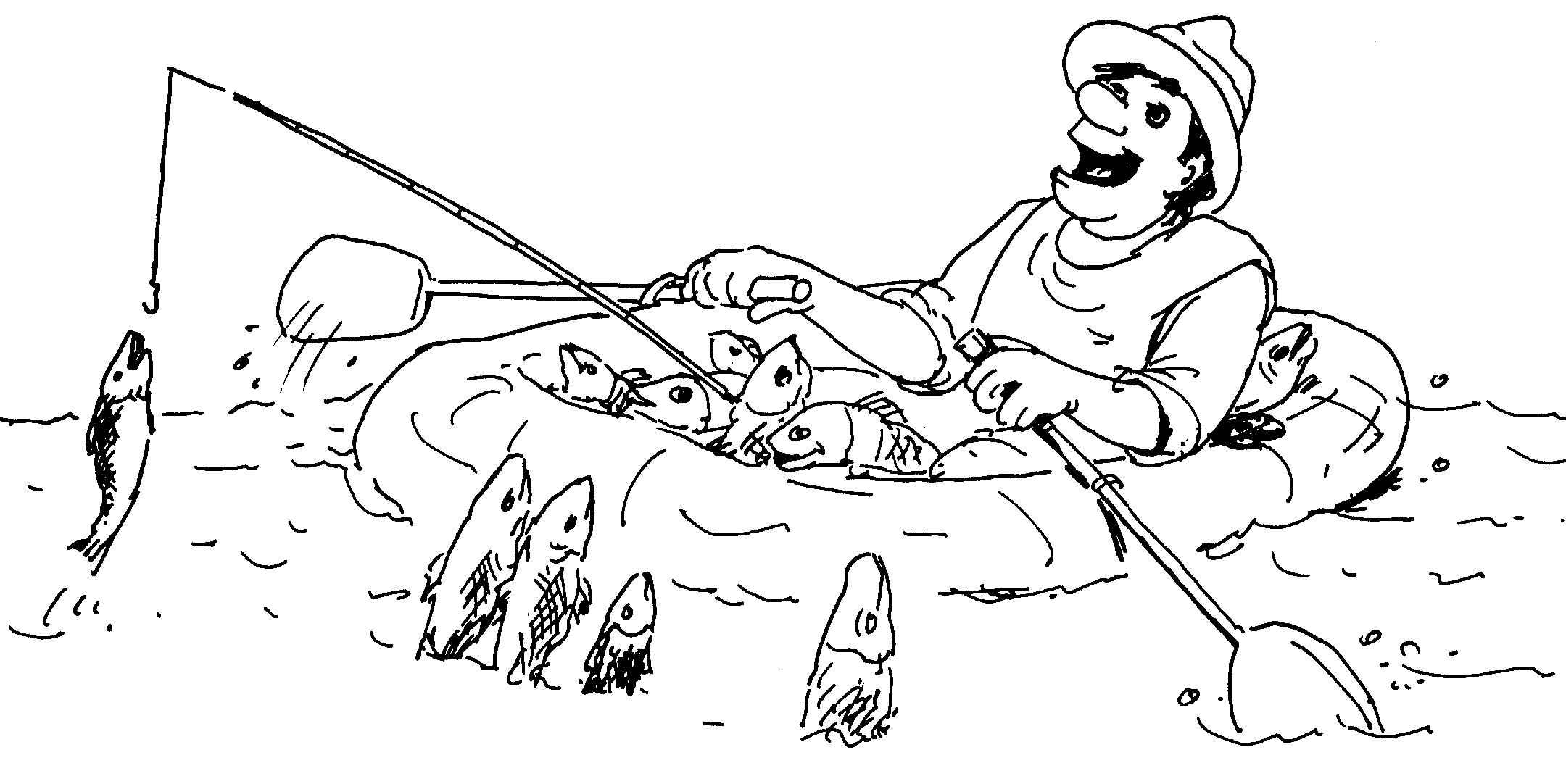 картинки для раскраски рыбалка знай горя никогда