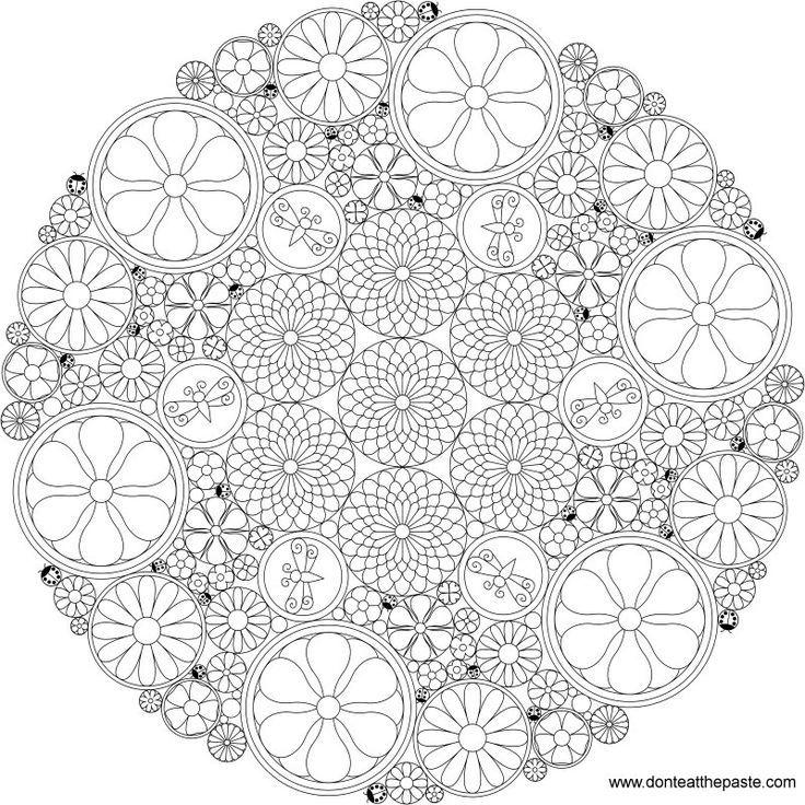 Difficult Mandala Flower Coloring Pages - Hard Mandala ...