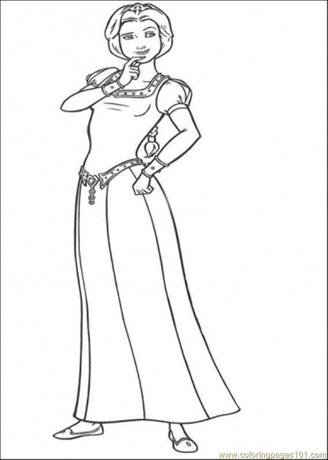 Desenho Shrek E A Princesa Fiona Para Imprimir E Colorir Clip