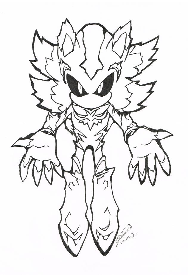 Dibujos De Metal Sonic Para Colorear - Para Colorear