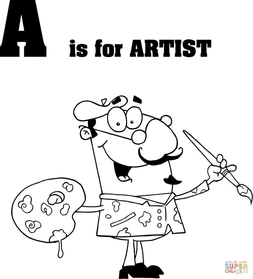 Painter Vector Clip Art Library