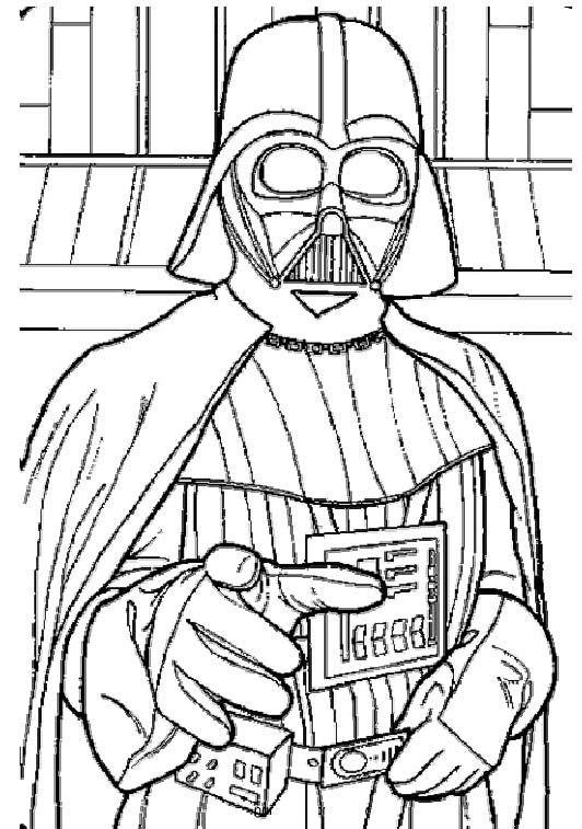 Darth Vader Star Wars Coloring Pages - Clip Art Library