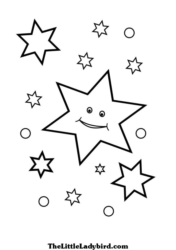 Картинки звездочки для детей раскраски