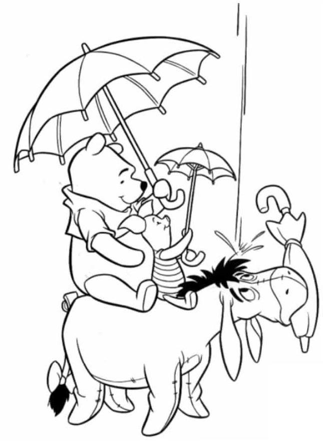 Desenhos Para Colorir Ursinho Pooh E Seus Amiguinhos Clip Art