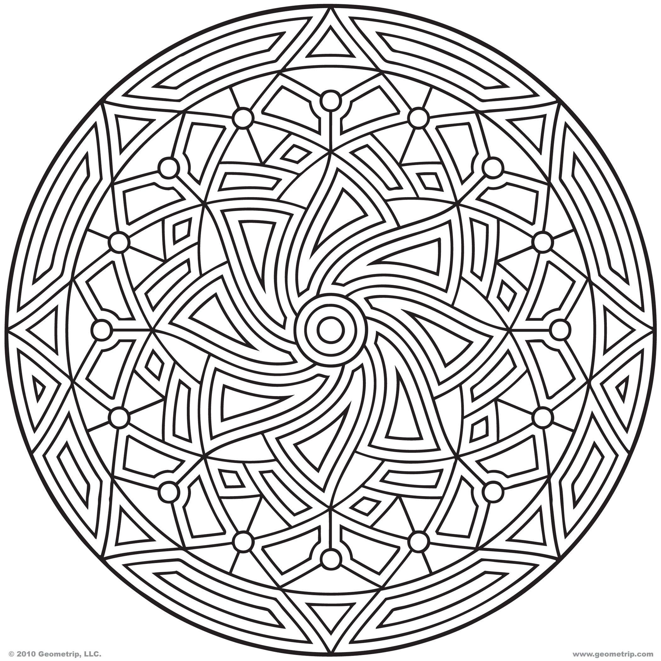 Free Geometric Mandala Coloring Pages Download Free Clip Art Free Clip Art On Clipart Library
