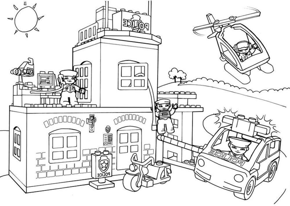 lego city ausmalbilder polizei