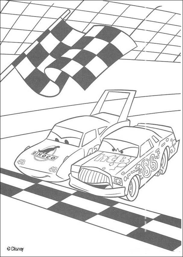 Paginas Para Colorir Carros Carros Mate E O Carro De Pol Cia