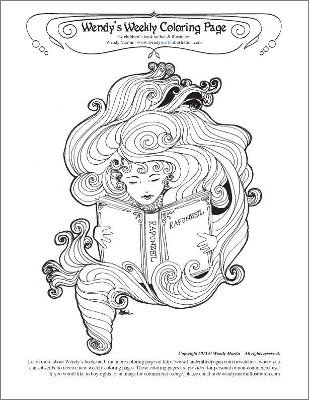 Pagan Coloring Page Clip Art Library