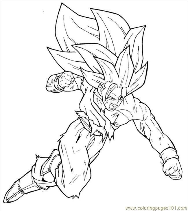 Free Goku Super Saiyan 3 Coloring Pages Download Free Clip Art