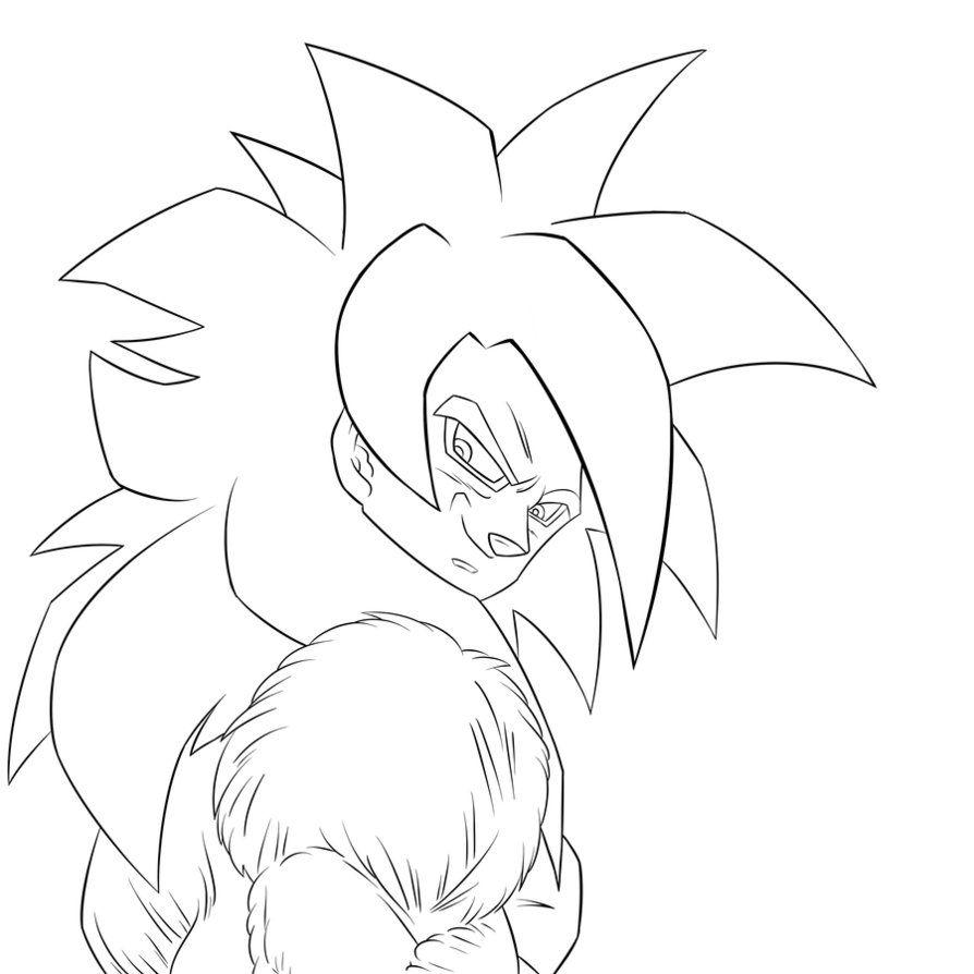 Free Dragon Ball Z Goku Super Saiyan 4 Coloring Pages Download