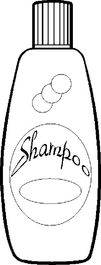 Картинка шампуня раскраска