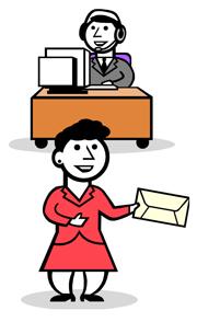 Front Desk Receptionist Clipart