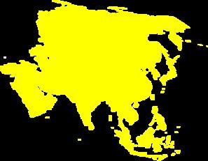 Montessori Asia Map Montessori Asia Continent Map Clip Art   Clip Art Library
