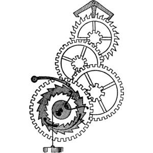 Sombrero Clip Art Black And White Wheels of a Clock Clip...