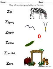 111831 - Words That Start With Z For Kindergarten