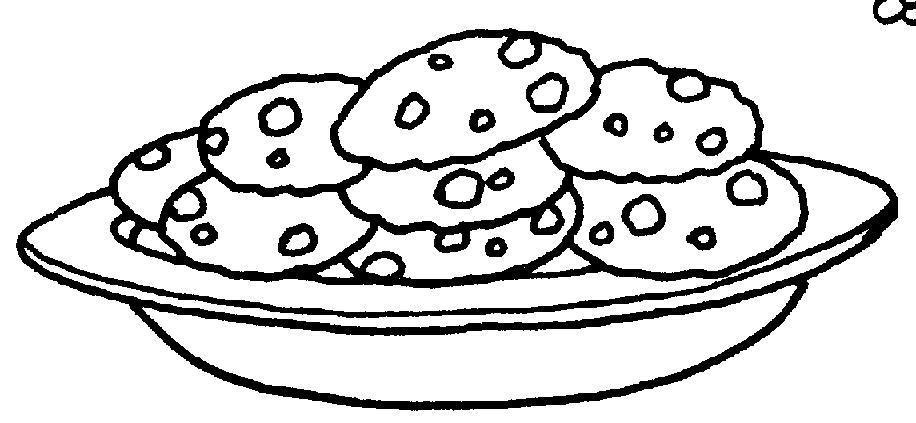 Раскраска пирожки в тарелке