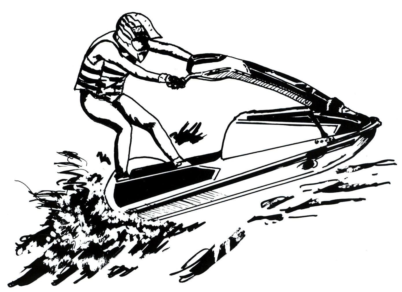 jet ski clip art black and white. Black Bedroom Furniture Sets. Home Design Ideas