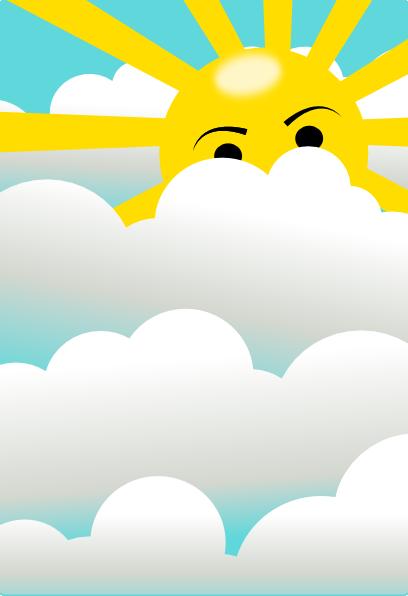 Clouds With Hidden Sun Clip Art