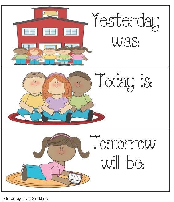 Kindergarten Calendar S S : Free yesterday cliparts download clip art