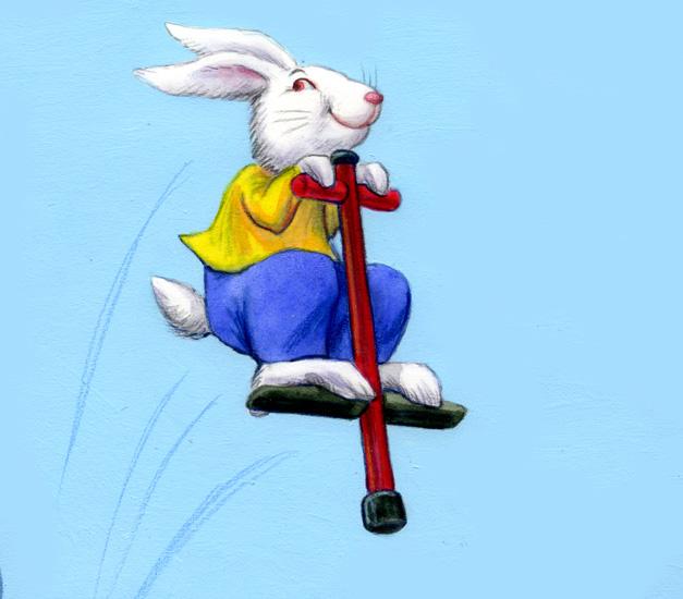 cartoon rabbit jumping