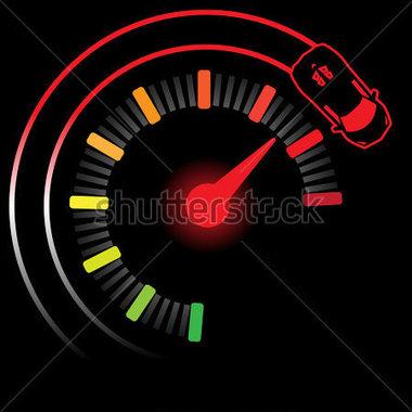 Turbo Boost Gauge stock vector