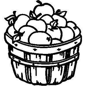 free bushel basket coloring pages - photo#28