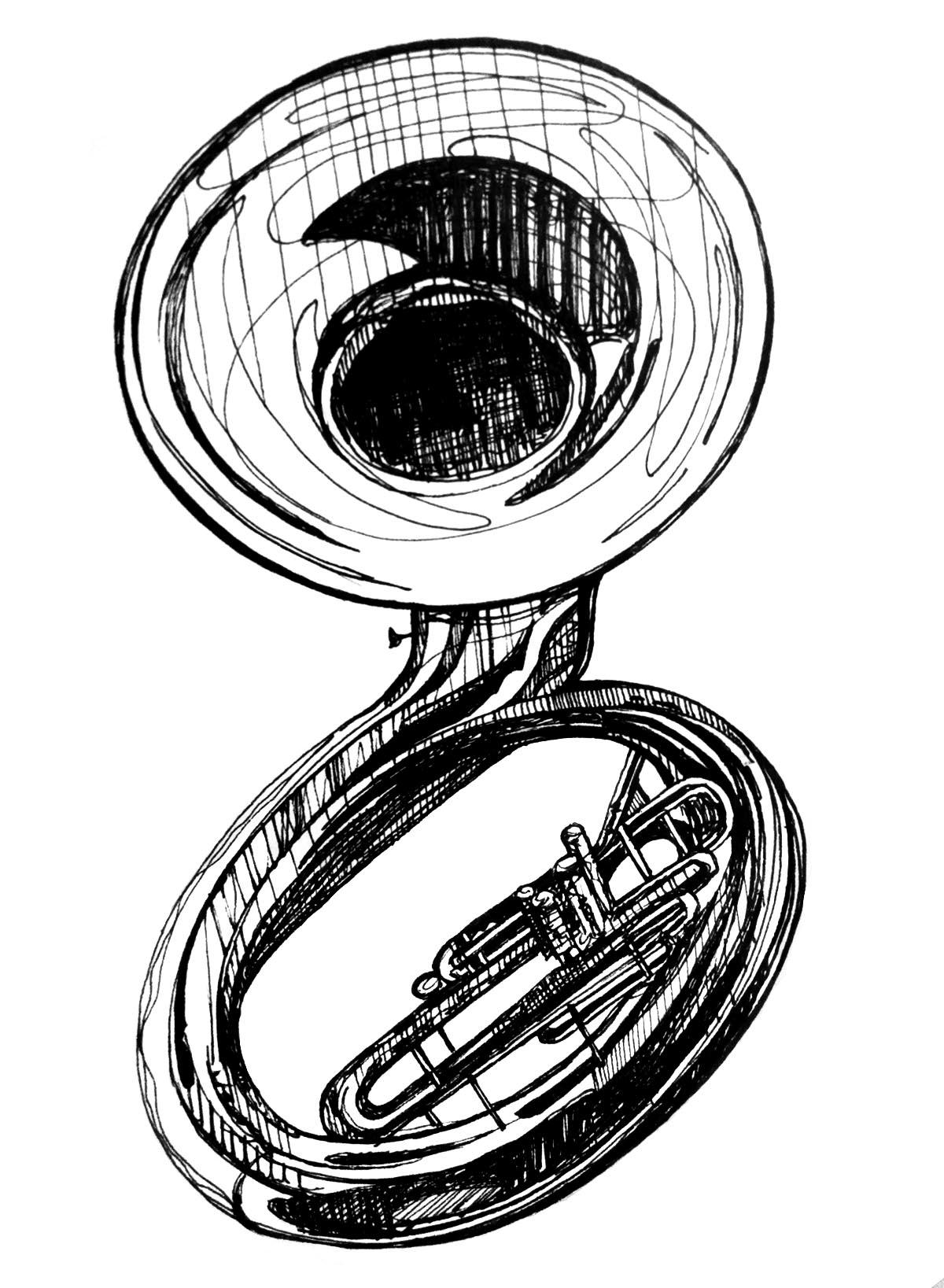 Umbrella Clipart Black And White Free Sousaphone Clipar...