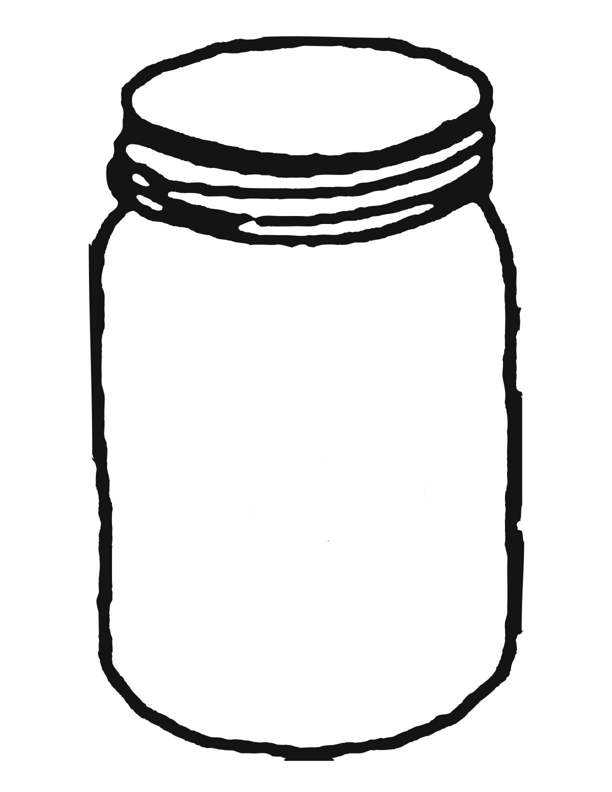 Free Jar Clip Art Black And White