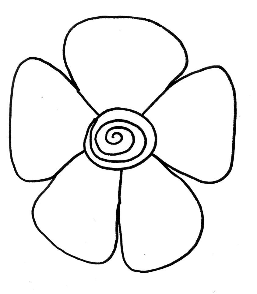 Цветки рисунки легкие