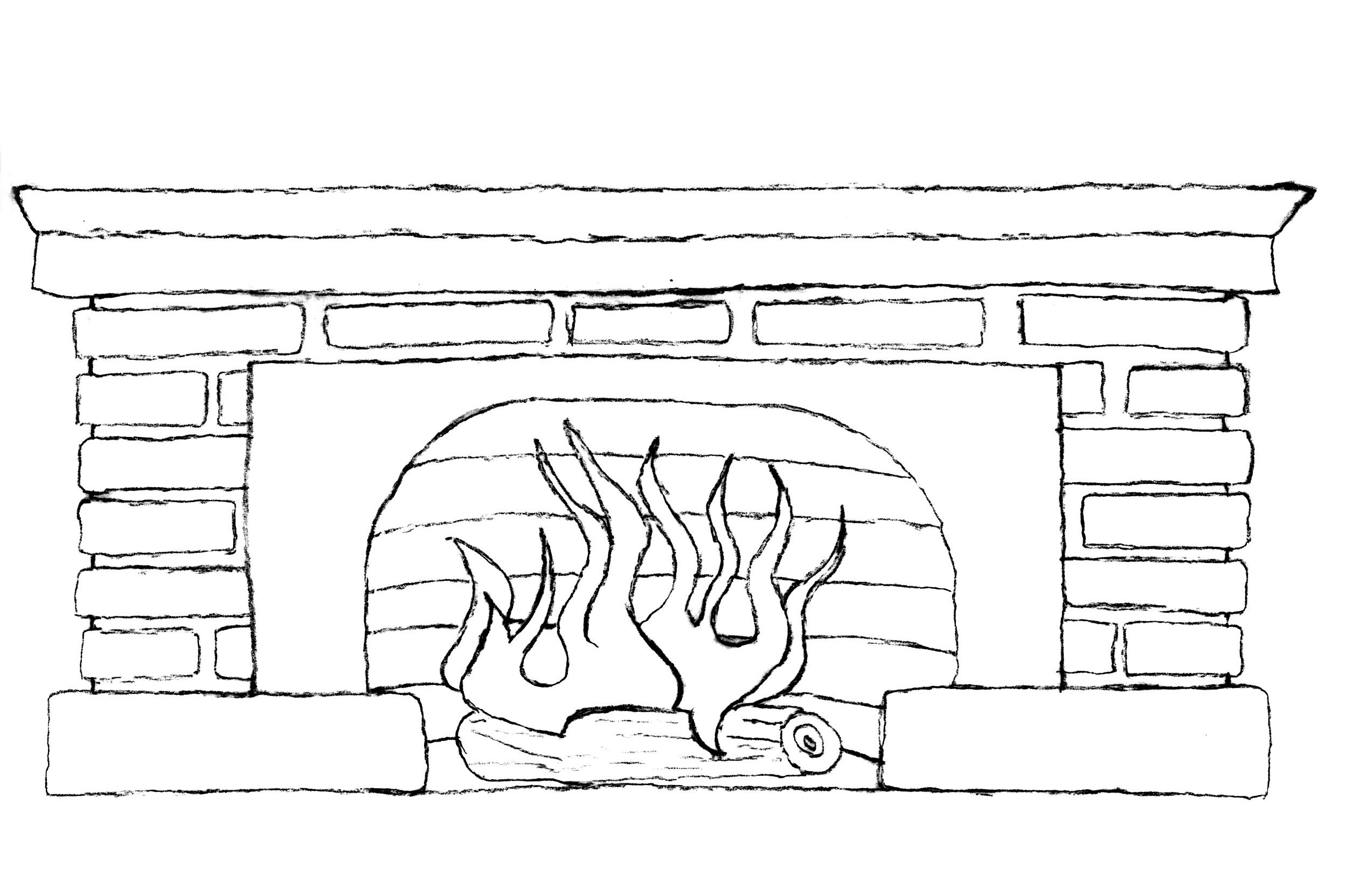картинки как рисовать печь входит