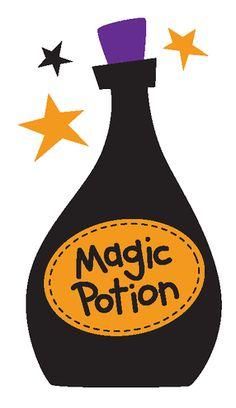 Love potions book clip art