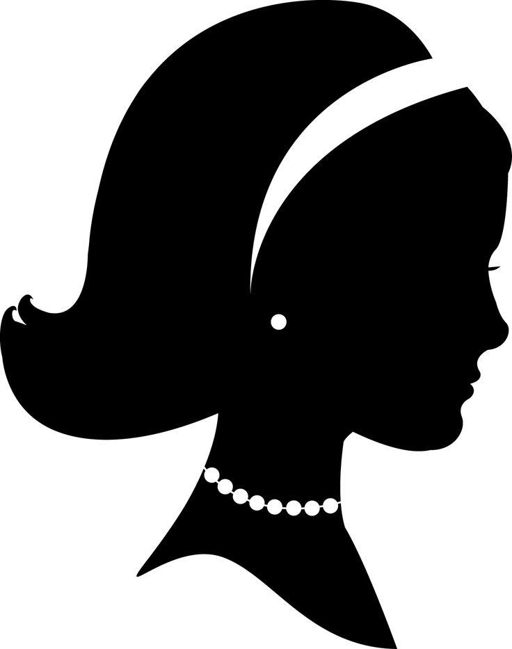 silueta cara mujer | f | clipart library - clip art library
