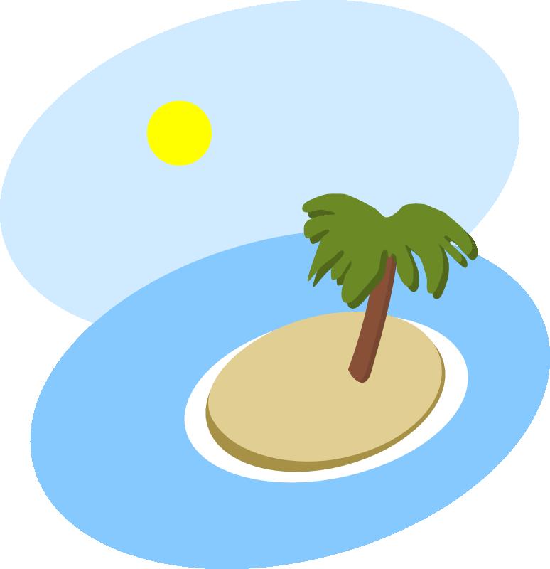 Clipart Oval island scene