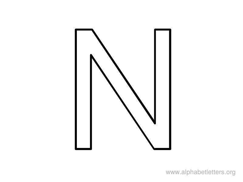 Alphabet Letters N Printable Letter N Alphabets