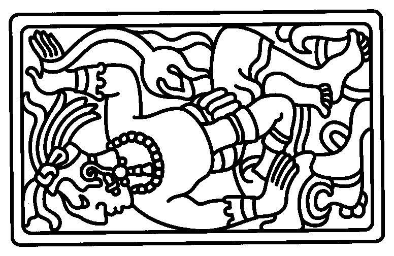 aztec murals coloring pages - photo#18