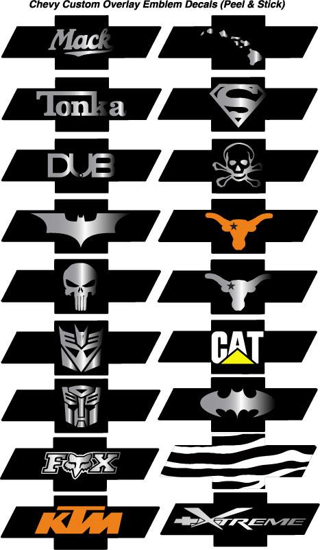 Chevy Emblem Overlay Decals