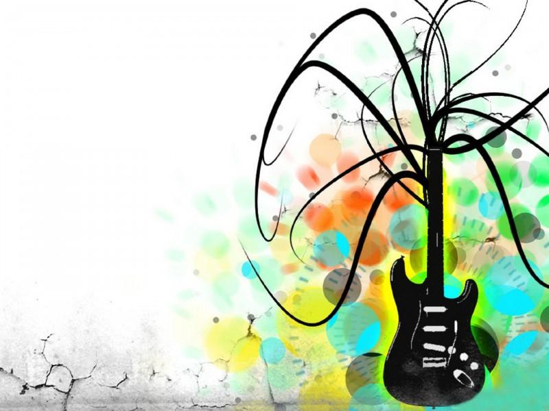 Music Electric Guitar Art Desktop Wallshark