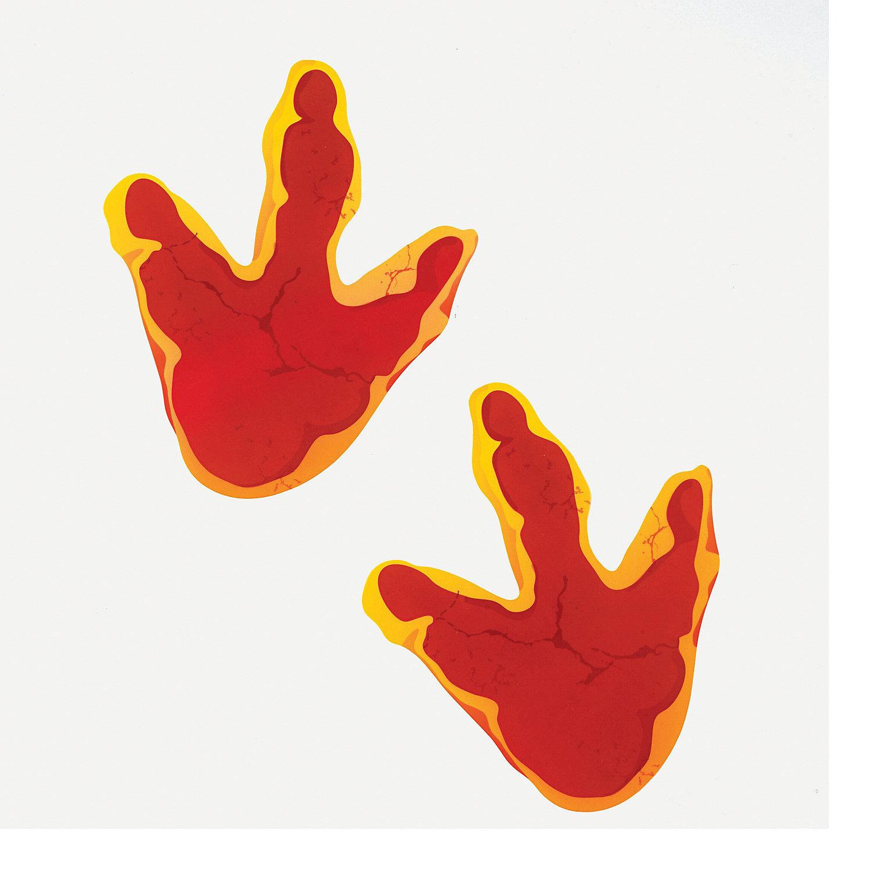 Dino Mite Footprint Floor Decals Oriental Trading