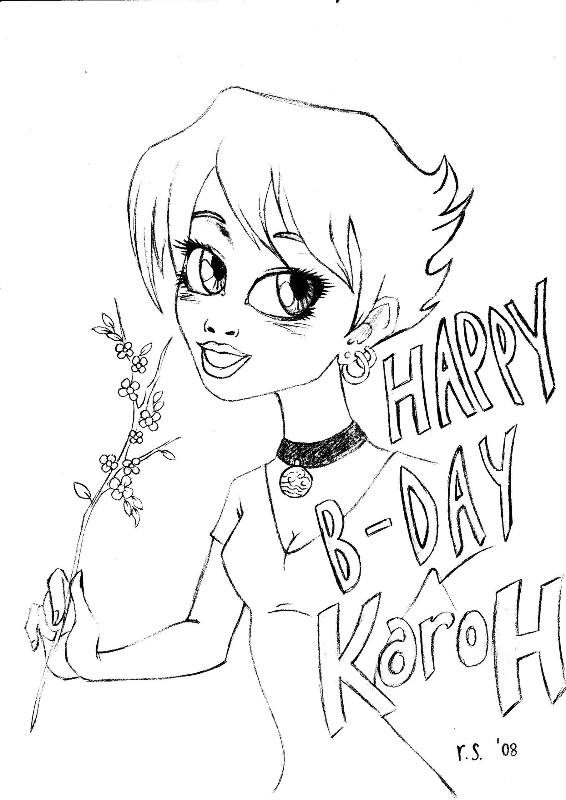 HAPPY BIRTHDAY KaroH 3 doodles