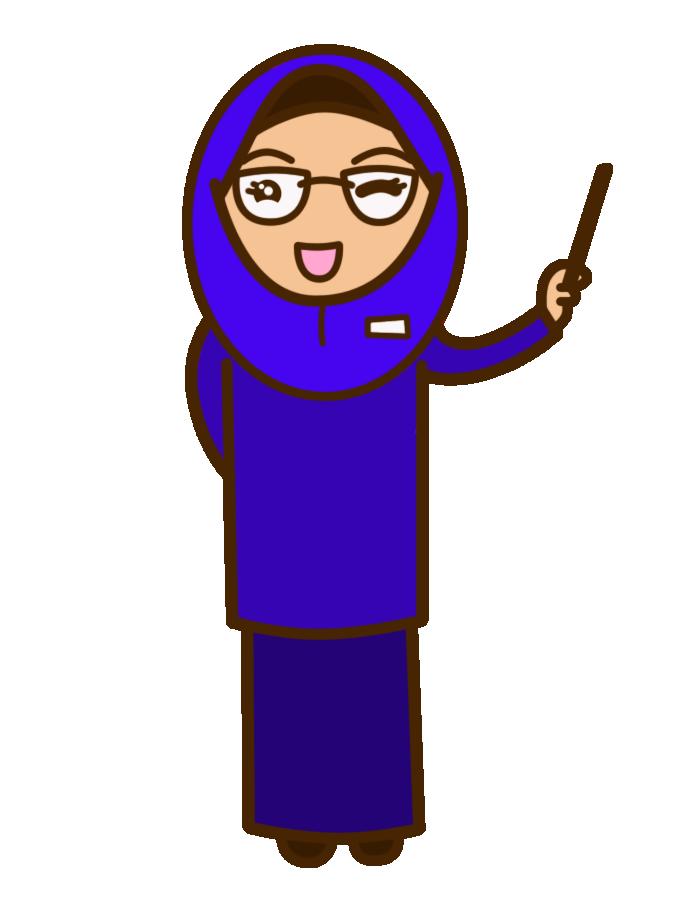 Kumpulan Animasi Bergerak Guru Muslimah Kumpulan Kartun