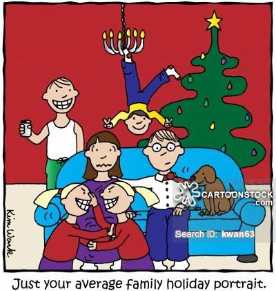 Funny Christmas Family Cartoons Clip Art Library
