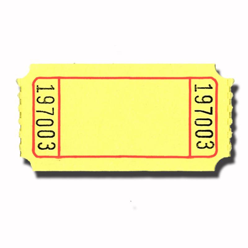 1 x 2 blank carnival style roll tickets