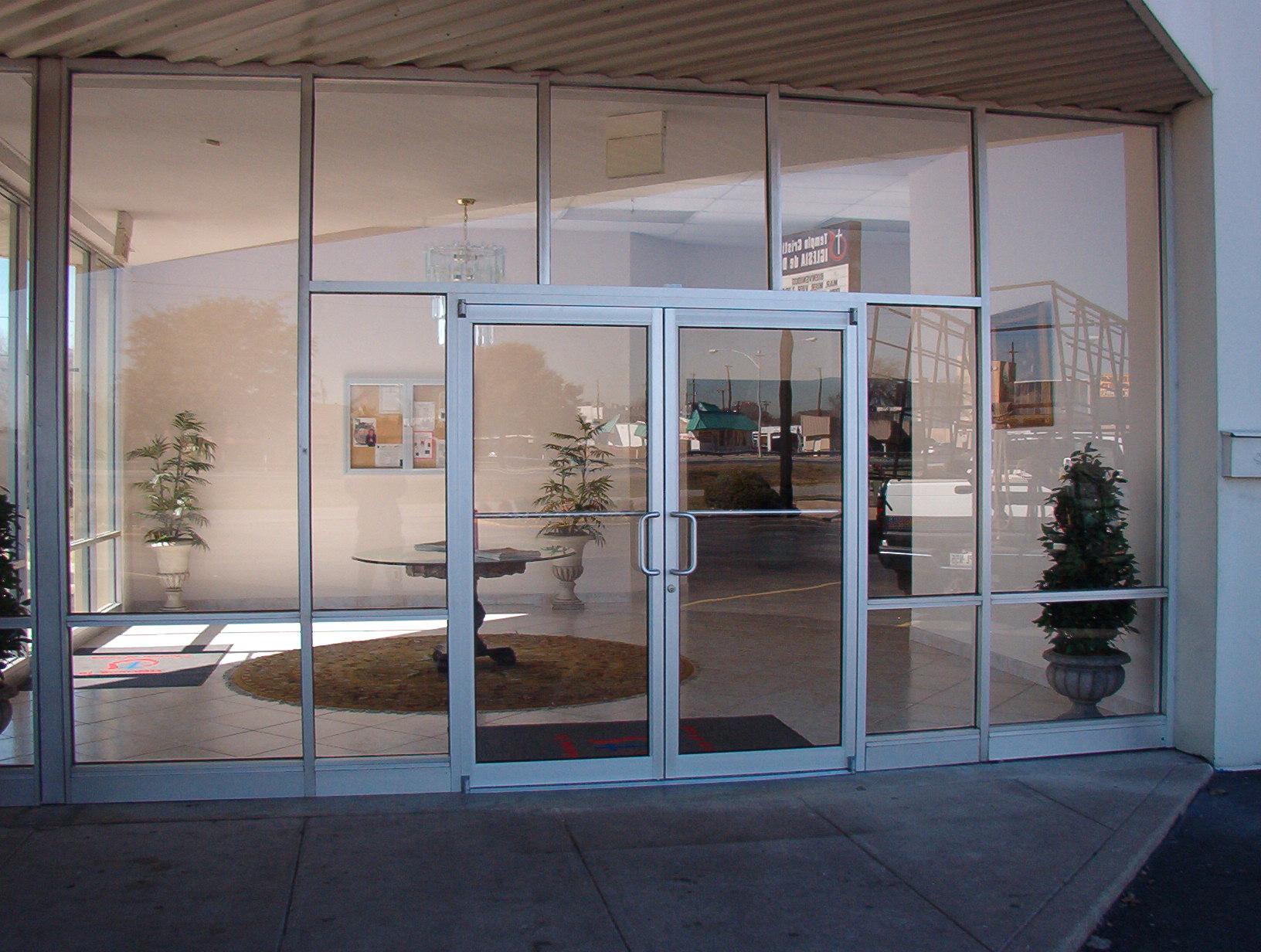 Storefront Windows And Doors door of glass - clip art library