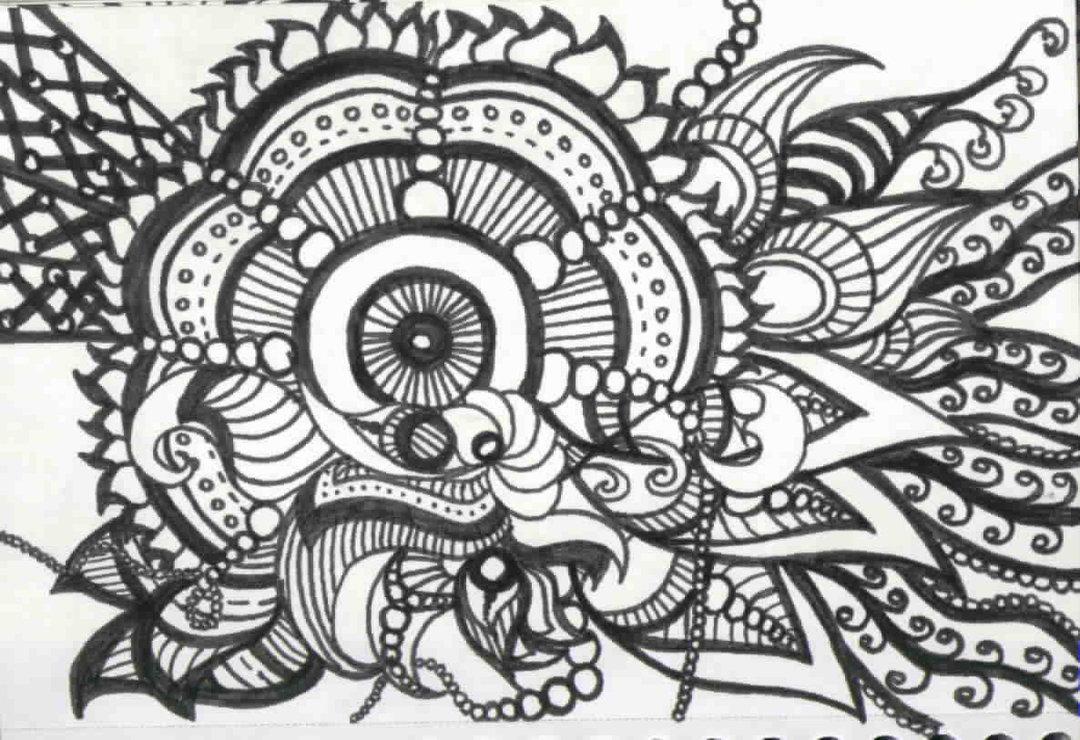 Art Design On Line : Free flowers line drawing download clip art